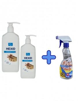 KIT: 2 x Hexid 1L + 1 Igienizant cu  glicerina vol.70%