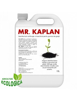 Dezinfectant antifungic si insecticid pentru gunoiul de grajd, Mr Kaplan, 10L